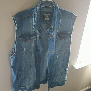 Mens sleeveless jean jacket
